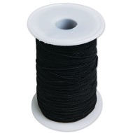 Heavy Black Elastic Cord, 144 Yards