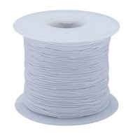 White Elastic Cord, 100 Yards - Medium