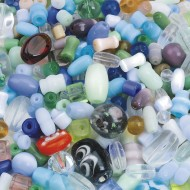 Glass Bead Mix, 1/2lb (pk/350)
