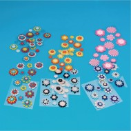 Felt Button Stickers