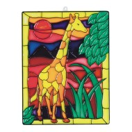 Stain-A-Frame Set - Giraffe Scene (Pack of 12)