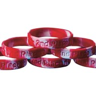 2nd Place Silicone Bracelet (Pack of 24)