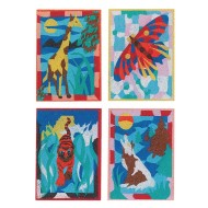 Wild Animal Sand Art Boards (Pack of 12)