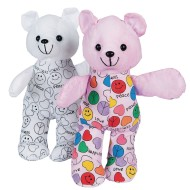 Color-Me™ Teddy Bears (Pack of 12)