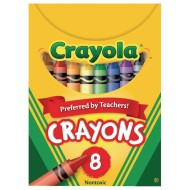 Crayola® Regular Size Crayons, Box of 8 (Pack of 12)