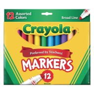 Crayola® Classic Broad Tip Markers (Box of 12)