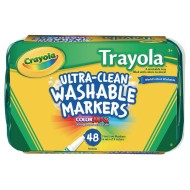 Crayola® Trayola® Washable® Markers (Pack of 48)