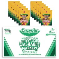 Crayola® Multicultural Marker & Crayon Easy Pack