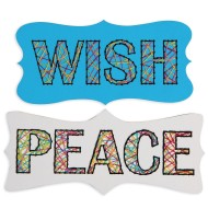 Stitching Plaques Craft Kit: Wish and Peace (Pack of 24)