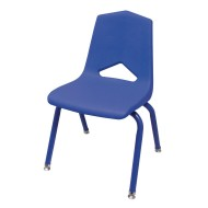 Marco Group® MG1100 Series V-Back Blue Chair with Matching Frame Value Pack,  (Pack of 6)
