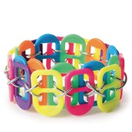 Neon Pop Tab Bracelet Craft Kit (Pack of 24)