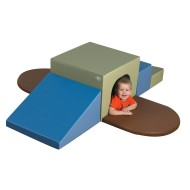 Children's Factory® Woodland Soft Climb-Up Tunnel