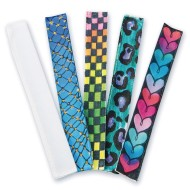 Color-Me™ Fabric Slap Bracelets (Pack of 48)