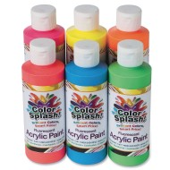 Color Splash!® Neon Acrylic Paint, 8 oz. (Set of 6)