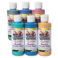 Color Splash!® Metallic Acrylic Paint Assortment, 8-oz. (Set of 6)
