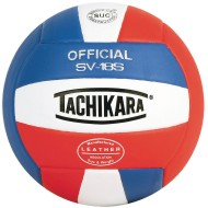 Tachikara® SV-18S Volleyball, Royal/White/Scarlet