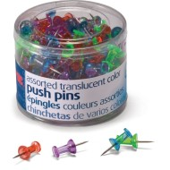 Translucent Push Pins (Tub of 200)