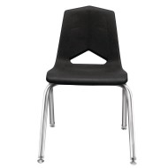 Marco Group® V-Back Black Shell Chair with Chrome Frame Pack (Pack of 6)