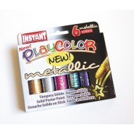 Playcolor Metallic Solid Tempera Paint Sticks (Set of 6)