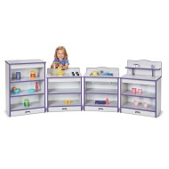 Jonti-Craft® Rainbow Accents™ Toddler Play Kitchen (Set of 4)