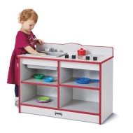 Jonti-Craft® Rainbow Accents™ Toddler 2-in-1 Play Kitchenette