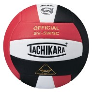 Tachikara® SV-5WSC Volleyball, Red/White/Black