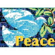 Collaborative Sticker Mosaic, Peace Dove