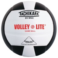 Tachikara® SV-MNC Volley Lite Volleyball, Black/White