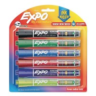 Expo® Dry Erase Markers with Ink Indicator (Set of 6)