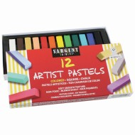 Premium Quality Art Chalk Pastels, Assorted (Box of 12)