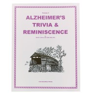 Volume 4: Alzheimer's Trivia & Reminiscence Book