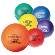"Gator Skin® Official Adult Dodgeballs, 8.3"" (Set of 6)"