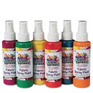 Color Splash!® Fabric Spray Paint Assortment, 4 oz. (Pack of 6)