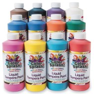 Color Splash!® Liquid Tempera Assortment, 16 oz. (Pack of 12)
