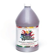 Color Splash!® Washable Tempera Paint - 128oz., Brown, Brown