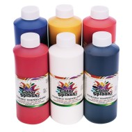 Color Splash!® Washable Tempera Paint Assortment, 16 oz. (Pack of 6)