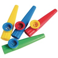 Plastic Kazoos, Assorted Colors (Pack of 12)