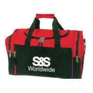 Compact Duffel Bag, Red/Black with S&S® Logo