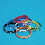 Spirit Silicone Bracelets,  (Pack of 24)