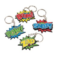 Super Hero Keychains (Pack of 12)