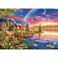 Lakeside Cabin Jigsaw Puzzle, 300 Pieces