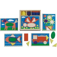 Melissa & Doug® Beginner Pattern Blocks Set