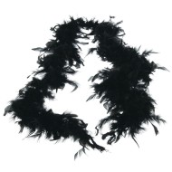 Black Feather Boa, 6'