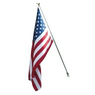 American Poly Cotton Flag Set, 3' x 5'