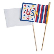 Color-Me™ Blank Flags and Dowels (Pack of 12)