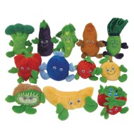 Fruit and Veggie Plush Beanbag Characters (Set of 12)