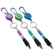 Keychain Pen With Carabiner (Pack of 12)