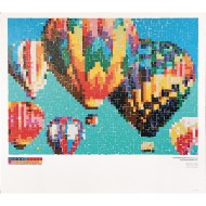 Collaborative Sticker Mosaic, Hot Air Balloon