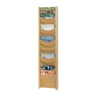 12-Pocket Wood Magazine Rack,