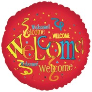 "Welcome Mylar Balloon, 17""  (Pack of 10)"